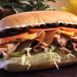 Kelly's 3-Meat  2-Cheese Loaded Subs! recipe