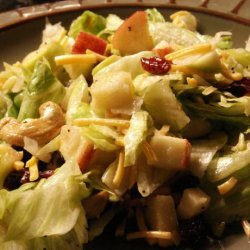 Cranberry, Pear, Apple Tossed Salad recipe