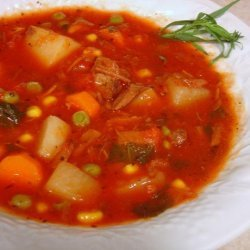 Crock Pot Vegetable Beef Soup recipe