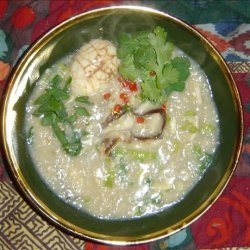 Rice Congee With Chicken recipe