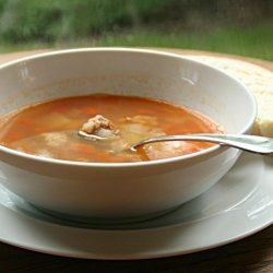 Spicy Sausage and Bean Soup recipe