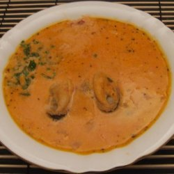 Creamy Mussel Soup with Fiery Rouille recipe