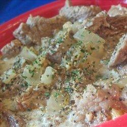 Pork or Lamb Goulash A' Blanc recipe