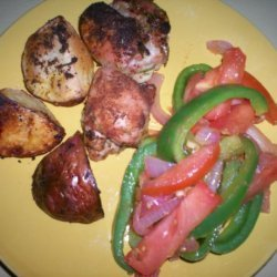 Baked Chicken Thighs With Potatoes recipe