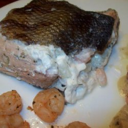 Salmon Fillet With Shrimp and Crab Stuffing recipe