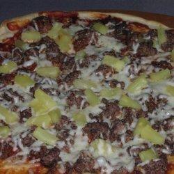Lower Fat Hamburger Pizza recipe