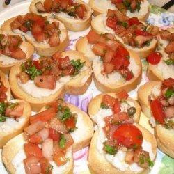 White Bean Pate with Tomato Relish recipe