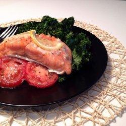 Tomato Salmon Bake recipe