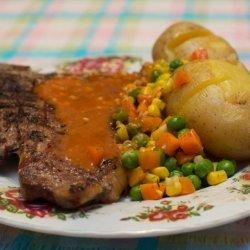 T - Bone Steaks With Garlic Butter Sauce recipe