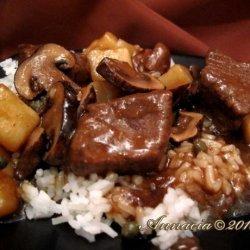 Beef Stew with Cuban Coffee Gravy recipe