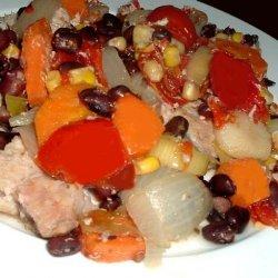 Crock Pot Recipe Black Beans and Corn Etc. recipe