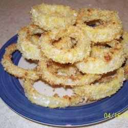 Spicy Oven Baked Onion Rings recipe
