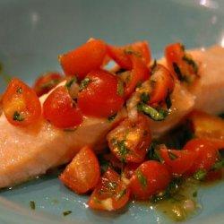 Salmon With Tomato Basil Relish recipe