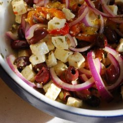 Marinated Vegetables With Feta recipe