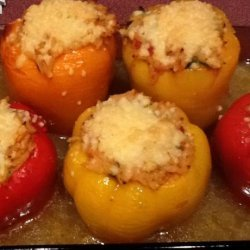Orzo Stuffed Peppers recipe