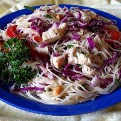 Spicy Spaghetti Ginger Salad  (Asian) recipe
