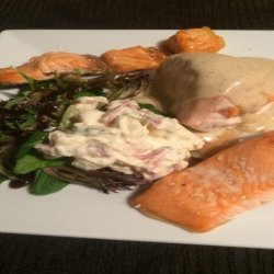 Chicken Breast Stuffed With Smoked Salmon With Cheese and Salmon recipe
