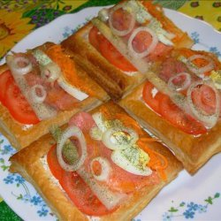 Rainbow Smoked Salmon Salad in Puff Pastry recipe