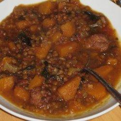 Lentil Stew With Butternut Squash recipe