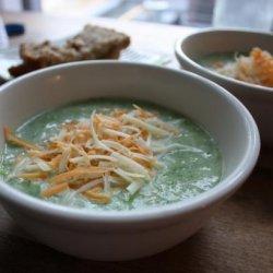 Broccoli Soup With Sharp Cheddar recipe