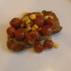 Sweet Cherry Salsa Pork Chops recipe