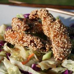 Hot Sesame Chicken Salad recipe