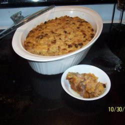Pumpkin Bread Pudding With Dutch Honey Syrup recipe