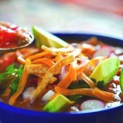 Tortilla Soup With Undercover Veggies! recipe