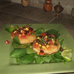 Shrimp Cakes With a Black Bean and Corn Salsa recipe