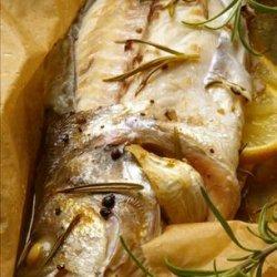 Loup De Mer En Papillote (Baked Sea Bass Wrapped in Paper) recipe