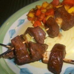 Fiery Beef Satay Skewers recipe