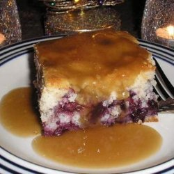 Blueberry Cake With Brown Sugar Sauce recipe