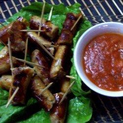Sausages With Hot Dip Sauce recipe