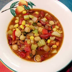 Grandma's Slow Cooker Vegetarian Chili recipe