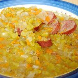 Slow Cooker Split Pea Sausage Soup recipe