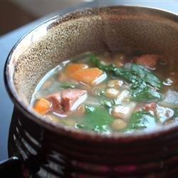 Spinach Lentil Soup recipe