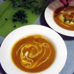 Roasted and Curried Butternut Squash Soup recipe