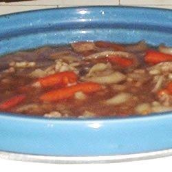 Slow Cooker Beef Barley Soup recipe