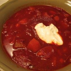 Russian Cabbage Borscht recipe