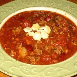 Frank's Spicy Alabama Onion Beer Chili recipe