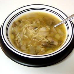 Mushroom and Leek Soup recipe