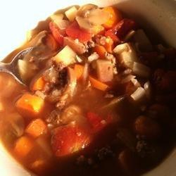 Hamburger Rice Soup recipe