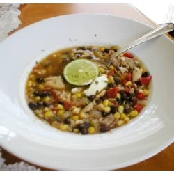 Chicken Soup With Black Beans and Corn recipe