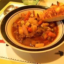 Slow Cooker Vegetable Beef Soup recipe