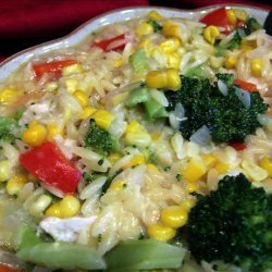 Chicken With Orzo and Veggies recipe