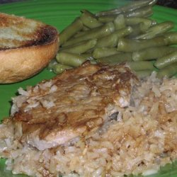 Consomme Pork Chops and Rice recipe