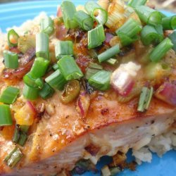 Orange Sesame Glazed Salmon W/ Extra Crispy Skin recipe