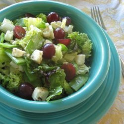 Field Salad With Snow Peas, Grapes, and Feta recipe
