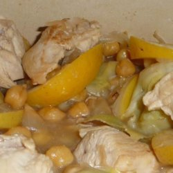Lemon Chicken With Chickpeas and Artichokes recipe