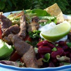Becky's Gourmet Southwestern Taco Salad or Nachos With Steak recipe